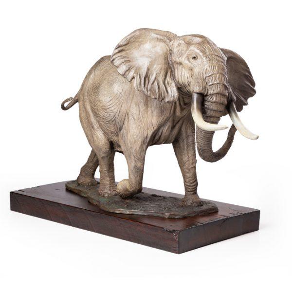 African Elephant Bronze Sculpture