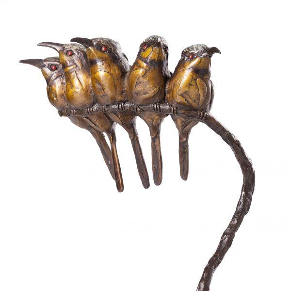 Bee-eater - Family Bronze Sculpture